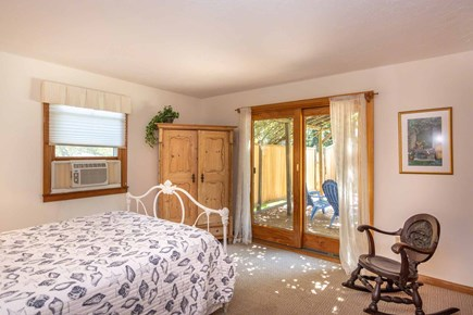 Vineyard Haven Martha's Vineyard vacation rental - Master Bedroom Has Queen Bed and Sliding Glass Doors Leading Out
