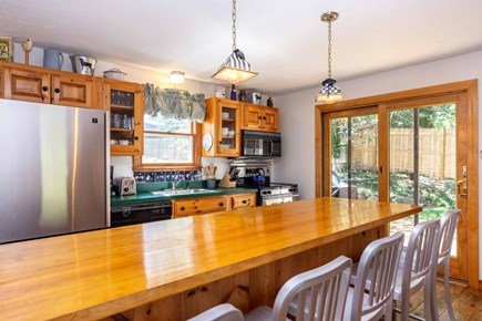 Vineyard Haven Martha's Vineyard vacation rental - Eat-In Country Kitchen Has Large Butcher Block Dining Bar/Prep Co