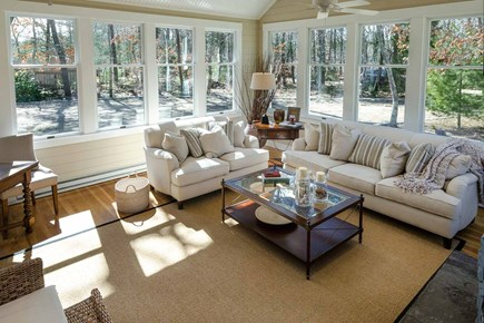 Katama - Edgartown Martha's Vineyard vacation rental - Living Room Is Wrapped By 3 Walls Of Glass Windows