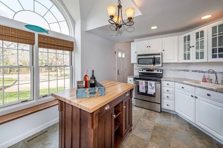 Edgartown Martha's Vineyard vacation rental - The Gourmet Kitchen Is Framed By A Large Arched Window