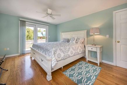 Edgartown Martha's Vineyard vacation rental - Bedroom #1 - Master Suite Has King Bed, Slding Door To Back Deck,