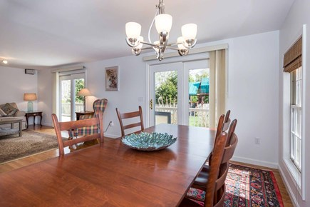 Edgartown Martha's Vineyard vacation rental - Dining Area Opens To Back Deck For Outdoor Dining & Entertaining