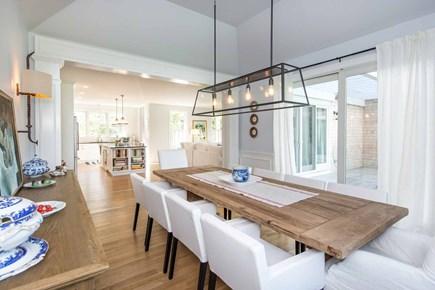Katama - Edgartown Martha's Vineyard vacation rental - Dining Area Has Tray Ceiling & Sliding Door To Mahogany Deck