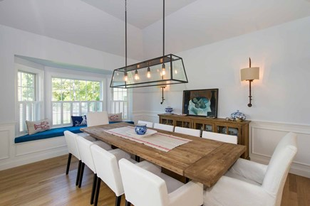 Katama - Edgartown Martha's Vineyard vacation rental - Dining Area Also Has Large Bay Window With Built-In Window Seat