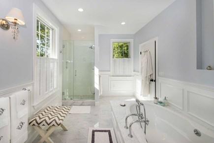 Katama - Edgartown Martha's Vineyard vacation rental - Main Bathing Salon Has Soaking Tub & Glass Walk-In Shower