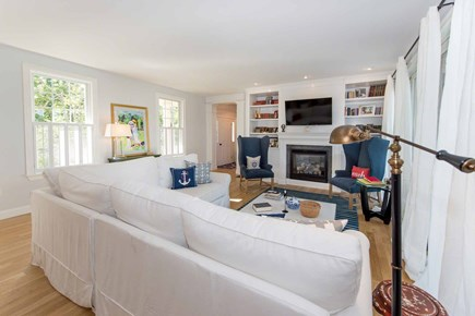 Katama - Edgartown Martha's Vineyard vacation rental - House Features Open Layout With Living Area, Kitchen & Dining Are