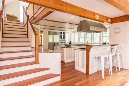 West Tisbury Martha's Vineyard vacation rental - Kitchen and Adjacent Staircase Leading to Second Floor