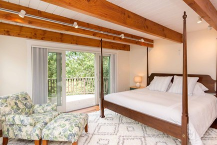 West Tisbury Martha's Vineyard vacation rental - Master Bedroom Suite Has a King Bed, Private Deck and Bath