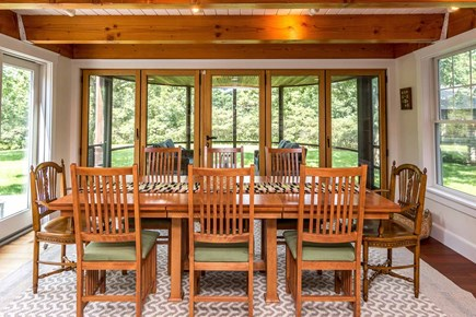 West Tisbury Martha's Vineyard vacation rental - Dining Area Connects with Screened Porch and Deck