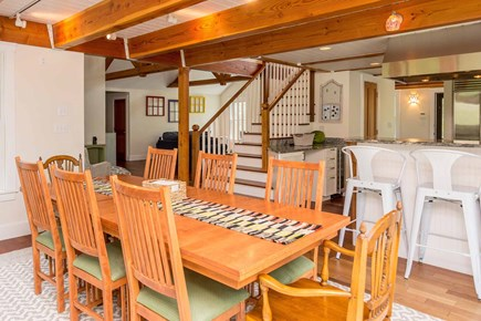 West Tisbury Martha's Vineyard vacation rental - Dining Room Open to Kitchen and Living Area
