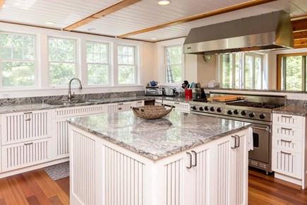 West Tisbury Martha's Vineyard vacation rental - Kitchen Has Center Food Prep Island and Opens to Dining Room