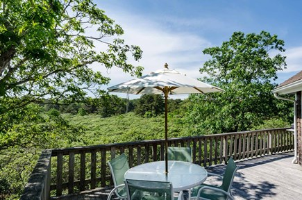 West Tisbury Martha's Vineyard vacation rental - Large wraparound Deck Faces South