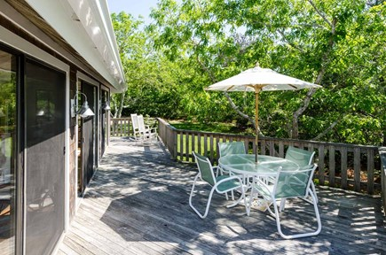 West Tisbury Martha's Vineyard vacation rental - Deck is Set Up for Outdoor Dining