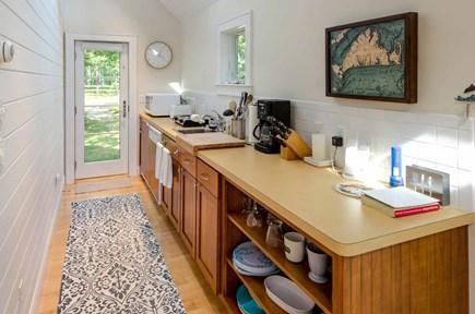 West Tisbury Martha's Vineyard vacation rental - Galley Kitchen Features 2 Burner Cooktop, Under Counter Fridge