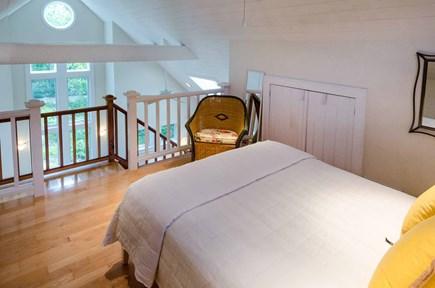 West Tisbury Martha's Vineyard vacation rental - Loft Sleeping Area Has Queen Bed, Vaulted Ceiling & Sitting Area.