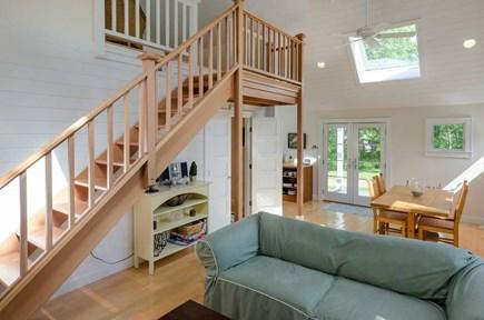 West Tisbury Martha's Vineyard vacation rental - View Across Great Room Toward Dining & Kitchen Area