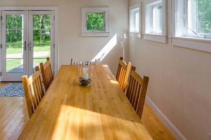 West Tisbury Martha's Vineyard vacation rental - Dining Area Has French Doors That Open To Deck