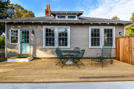 Edgartown Village Martha's Vineyard vacation rental - Classic Village Cottage Has New Mahogany Deck