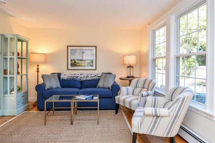 Edgartown Village Martha's Vineyard vacation rental - Living Room Has Multiple Seating Areas