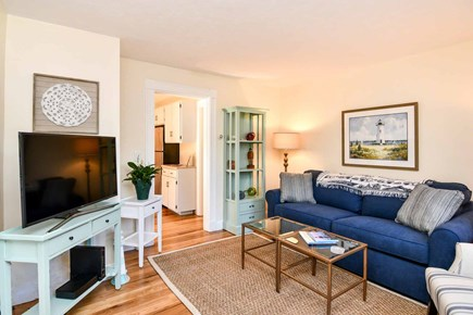 Edgartown Village Martha's Vineyard vacation rental - Living Room Has Large Screen TV / Media Area