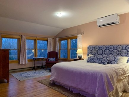 Vineyard Haven Martha's Vineyard vacation rental - Large Master bedroom with King, sitting area and lots of windows.