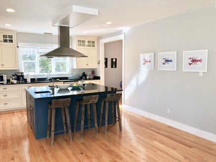Oak Bluffs Martha's Vineyard vacation rental - The gourmet kitchen has ample space and a breakfast bar & island