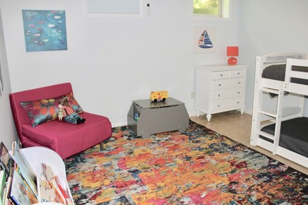 Oak Bluffs Martha's Vineyard vacation rental - The lower level bedroom has twin bunk beds, books and toys