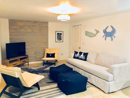 Oak Bluffs Martha's Vineyard vacation rental - Family room has a TV, ample seating and a queen size hide-a-bed