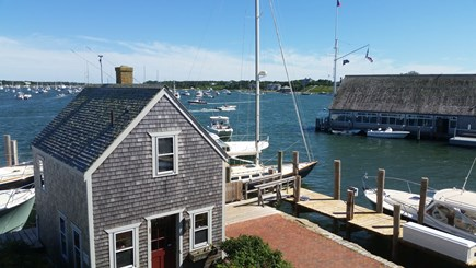 Edgartown Village Martha's Vineyard vacation rental - Edgartown Harbor & the Yacht Club from the Seafood Shanty deck