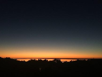 Chappaquiddick, Wasque Point Martha's Vineyard vacation rental - Sunset from deck