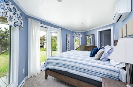 Chappaquiddick, Wasque Point Martha's Vineyard vacation rental - First floor king bedroom with slider and deck