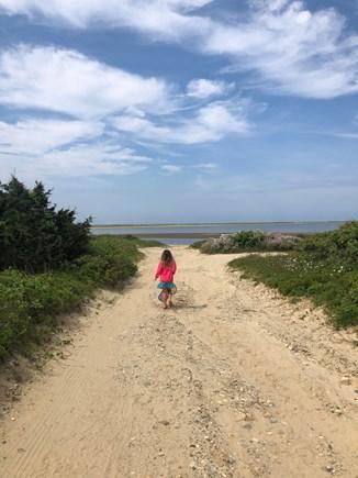 Chappaquiddick, Wasque Point Martha's Vineyard vacation rental - Short walk down dirt road to Katama Bay - just 500 feet