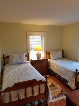Edgartown Martha's Vineyard vacation rental - Bedroom #1 twin beds and air conditioner
