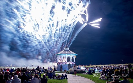 Oak Bluffs Martha's Vineyard vacation rental - Oak Bluffs fireworks - you'll love the view from our porch!