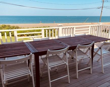 Oak Bluffs Martha's Vineyard vacation rental - Outdoor dining just off kitchen.