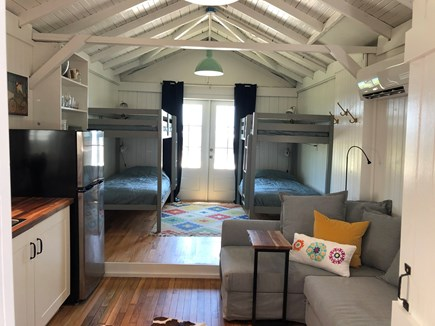 Oak Bluffs Martha's Vineyard vacation rental - The Lilac House.  Bunk house with its own kitchen, bathroom, TV.