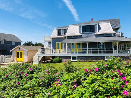 Oak Bluffs Martha's Vineyard vacation rental - Both houses face ocean, wrap around porch on Main; deck on Lilac.