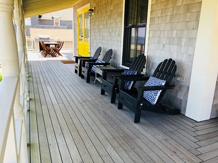 Oak Bluffs Martha's Vineyard vacation rental - Large, level porch.  Facing the ocean.