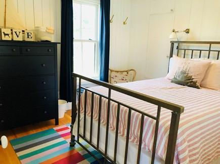 Oak Bluffs Martha's Vineyard vacation rental - Full-sized antique brass bed in downstairs BR