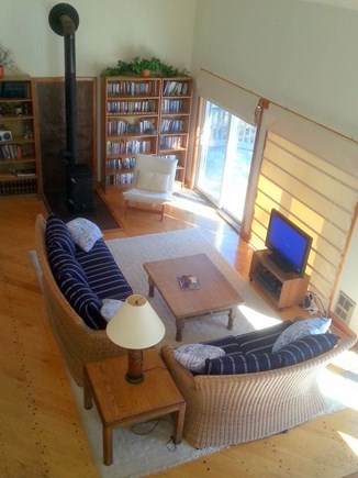 West Tisbury Martha's Vineyard vacation rental - Living Room from Loft