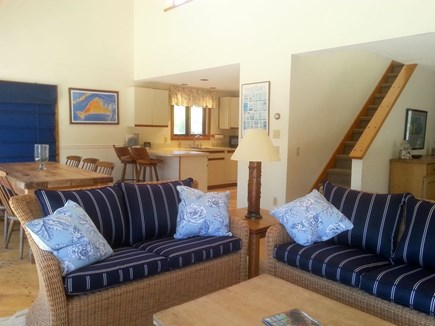 West Tisbury Martha's Vineyard vacation rental - Sitting area with Dining and Kitchen beyond