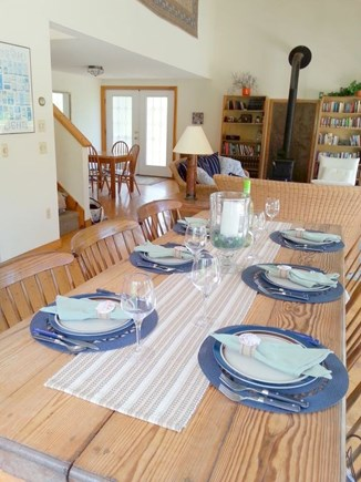 West Tisbury Martha's Vineyard vacation rental - Antique Dining table with seating for 6