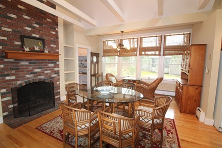 Vineyard Haven, Mink Meadows Martha's Vineyard vacation rental - Eat-in kitchen with fireplace