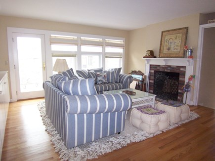 Vineyard Haven, Mink Meadows Martha's Vineyard vacation rental - Living room with fireplace