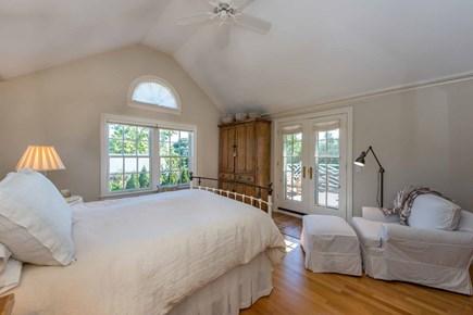 Edgartown Martha's Vineyard vacation rental - Bedroom #1 - Master Suite, Queen Bed, Vaulted Ceilings, Private D