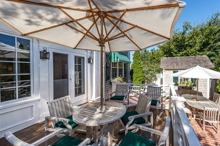 Edgartown Martha's Vineyard vacation rental - Outdoor Dining & Entertaining Areas Open From The Dining Room