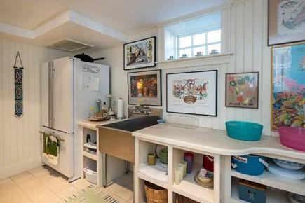 Edgartown Martha's Vineyard vacation rental - Adjoining Room Has Refrigerator, Sink & Laundry Area