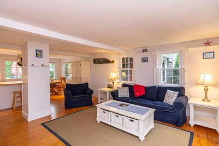 Edgartown Martha's Vineyard vacation rental - Open Living Room, Dining and Kitchen