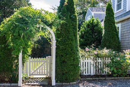 Edgartown Martha's Vineyard vacation rental - Arched Entry to Property