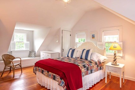 Edgartown Martha's Vineyard vacation rental - Bedroom 2 Has Queen Bed and Vaulted Ceilings